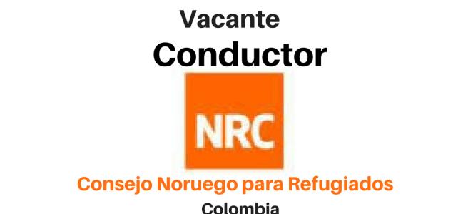 Vacante Conductor con NRC