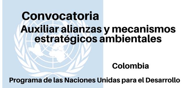 Vacante PNUD Auxiliar Alianzas y Mecanismos Estratégicos Ambientales