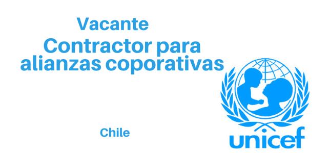Vacante Contractor para alianzas corporativas UNICEF