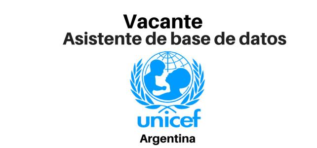 Vacante Asistente de Base de Datos UNICEF