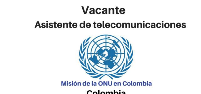 Vacante asistente en telecomunicaciones