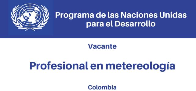 Vacante Profesional en Meteorología PNUD