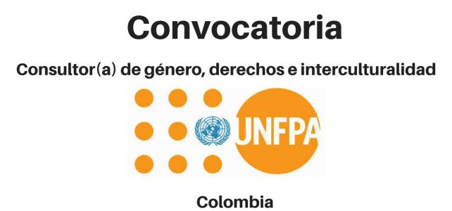 Convocatoria Consultor(a) de Género, Derechos e Interculturalidad UNFPA