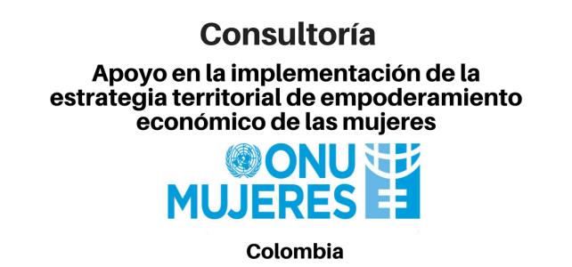 Consultoría para apoyo en la implementación de la estrategia territorial de empoderamiento económico de las mujeres