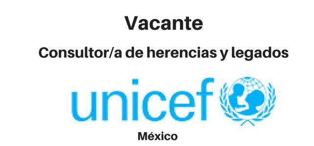 Vacante Consultor de herencias y legados UNICEF