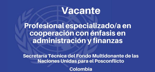 Convocatoria laboral en Colombia con el PNUD