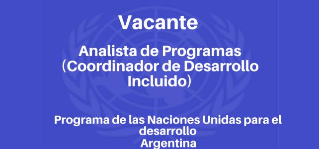 Vacante laboral con el PNUD en Argentina