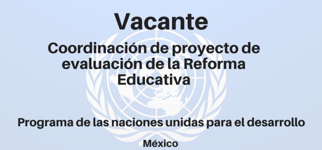 Vacante Coordinación de proyecto de evaluación de la Reforma Educativa