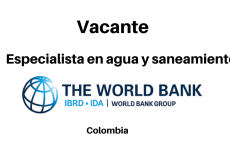 Vacante especialista en agua y saneamiento The World Bank