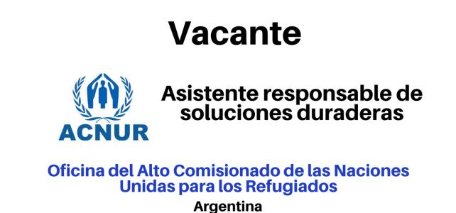 Vacante laboral con ACNUR en Argentina