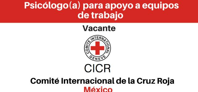 Vacante Psicólogo/a para apoyo a equipos de trabajo con CICR