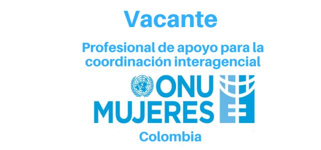 Vacante Profesional de apoyo para la coordinación interagencial ONU mujeres