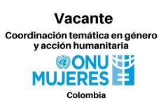 Vacante Coordinación temática en género y acción humanitaria con ONU mujeres