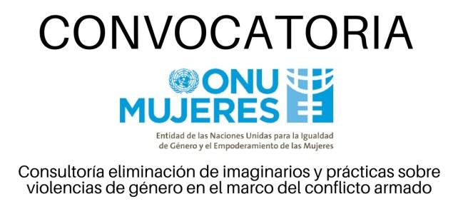 ONU Mujeres Colombia busca consultor(a) de asuntos de género en el marco del conflicto armado