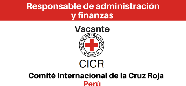 Vacante Responsable de Administración y Finanzas CICR