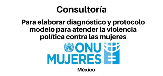 Consultoría para elaborar un Diagnóstico y un Protocolo Modelo para atender la violencia política contra las mujeres ONU Mujeres