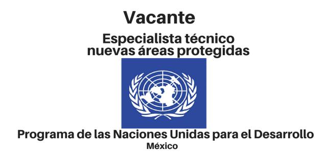 Vacante Especialista técnico – nuevas áreas protegidas con el PNUD