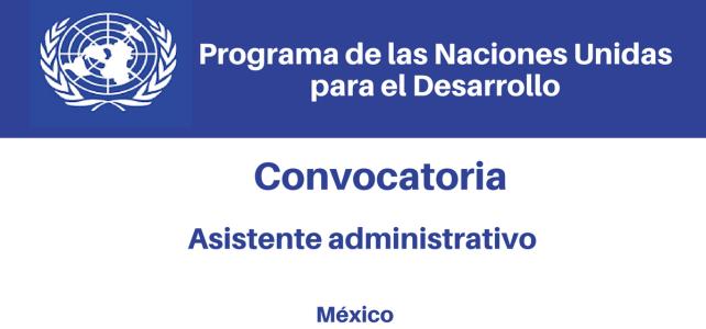 Convocatoria Asistente Administrativo PNUD