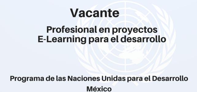 Vacante Profesional en Proyectos E-Learning para el Desarrollo PNUD