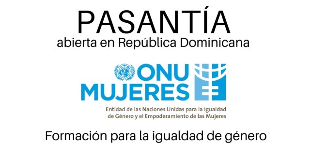 Pasantía con ONU Mujeres. Formación para la igualdad de género