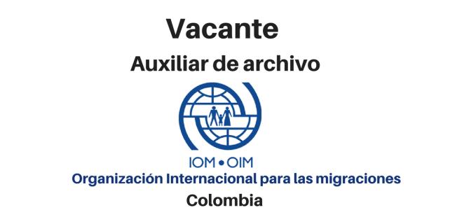 Vacante Auxiliar de archivo OIM