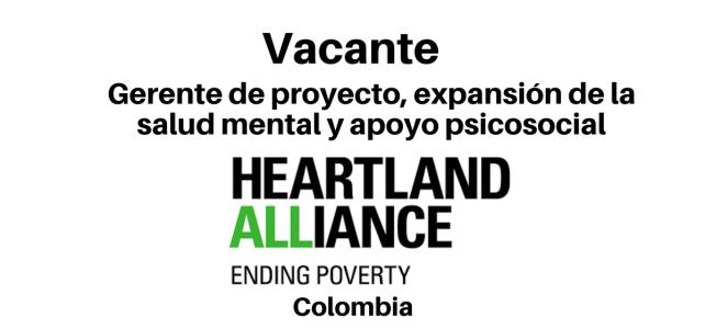 Vacante Gerente de Proyecto Heartland Alliance International