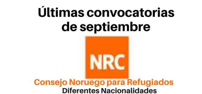 Últimas convocatorias de septiembre NRC