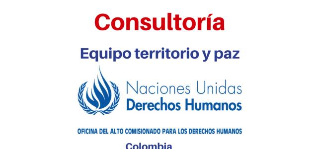 Consultoría Nacional equipo territorio y paz Naciones Unidas Derechos Humanos 17 de octubre