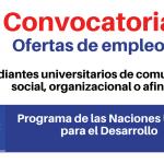 PNUD convoca estudiantes universitarios de comunicación social