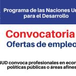 PNUD convoca profesionales en economía