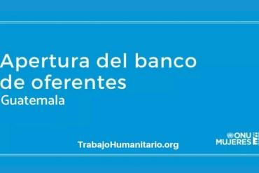 Banco de oferentes Guatemala