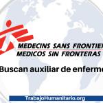 Médicos sin fronteras buscan auxiliar de enfermería