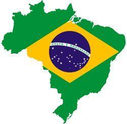 mapa Brasil bandeira