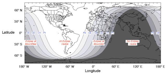 eclipse lunar janeiro 2019 - visibilidade