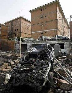 Imagem de um atentado atribuído ao grupo ETA.