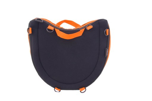 Trabasack Curve Connect bag and lapdesk with orange trim