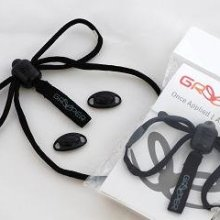 Image of two pairs of Greeper Sports shoe laces in black