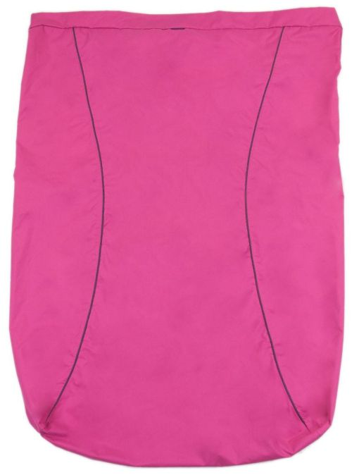 Image is a photograph of the Seenin waterproof leg cover in plain pink colour, lay flat on a white background