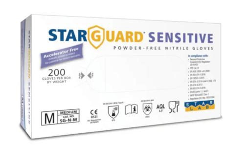 Image showing the starguard senstive skin gloves box
