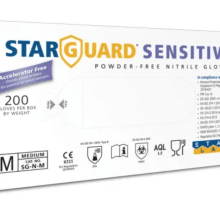 Image showing the starguard senstive skin gloves box