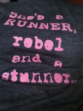 """More like, """"She's a runner, rebel and a junk food eater..."""