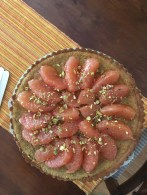Grapefruit and pistachio cake