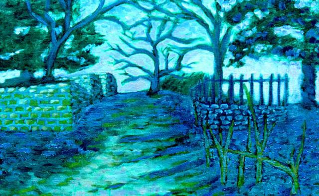 Boneyard, oil painting