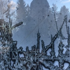 Frosty window pane — copyright Trace Meek