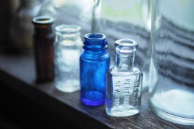 Antique bottles — copyright Trace Meek