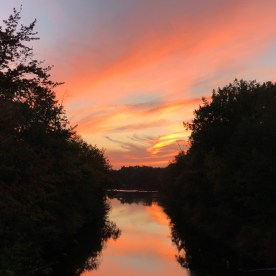 Sunset over the Chicopee River — copyright Trace Meek