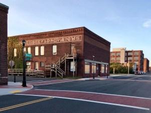 Street corner view, Holyoke MA — copyright Trace Meek