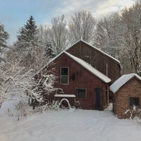 Snow barn — copyright Trace Meek