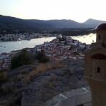 Coucher de soleil sur Poros