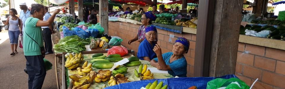 étals, marché de Cacao